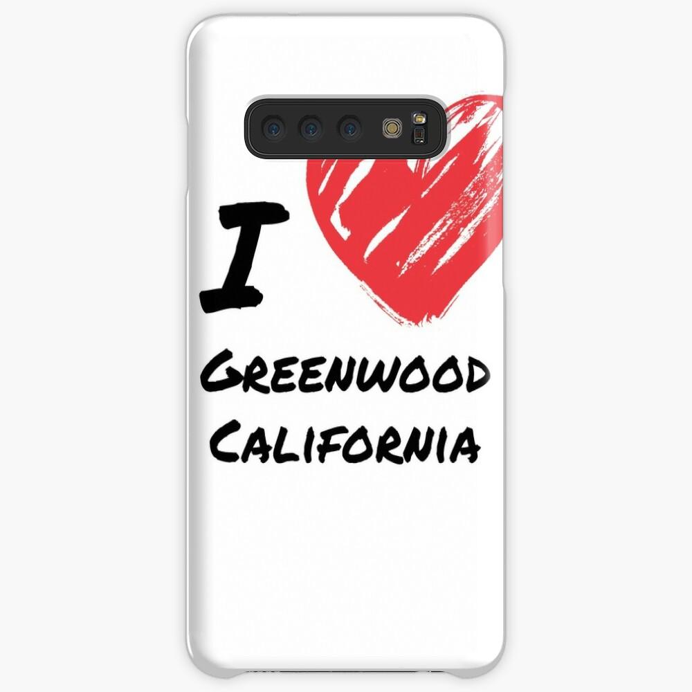 Ich liebe Greenwood Kalifornien Hülle & Klebefolie für Samsung Galaxy