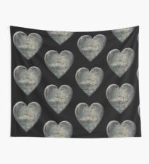 A Distressed Heart Wall Tapestry