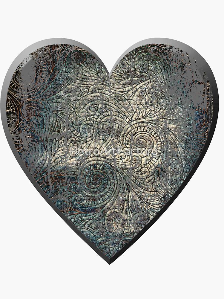 A Distressed Heart by RetroArtFactory
