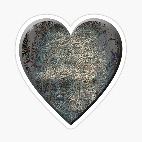 A Distressed Heart Sticker