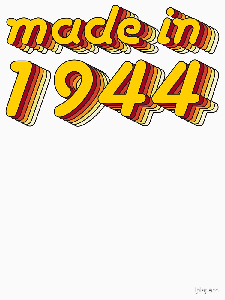 Made in 1944 (Yellow&Red) by ipiapacs