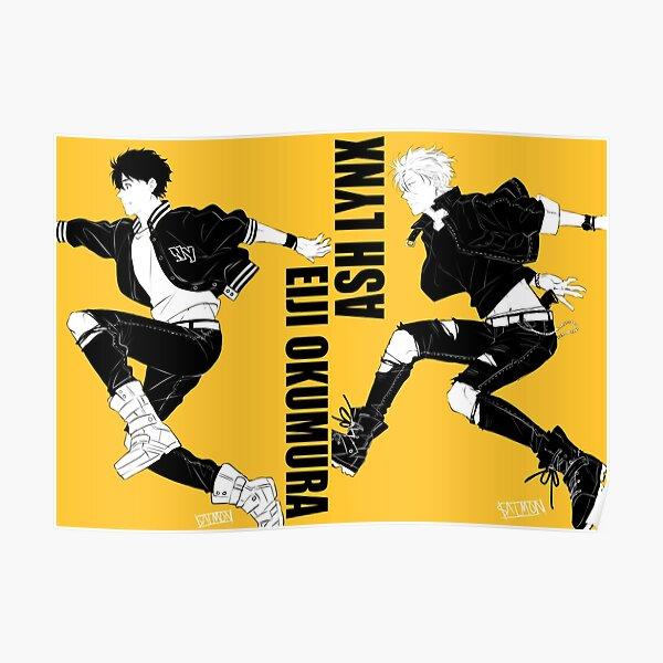 Ash y Eiji Jump Póster