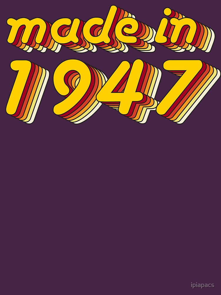 Made in 1947 (Yellow&Red) by ipiapacs