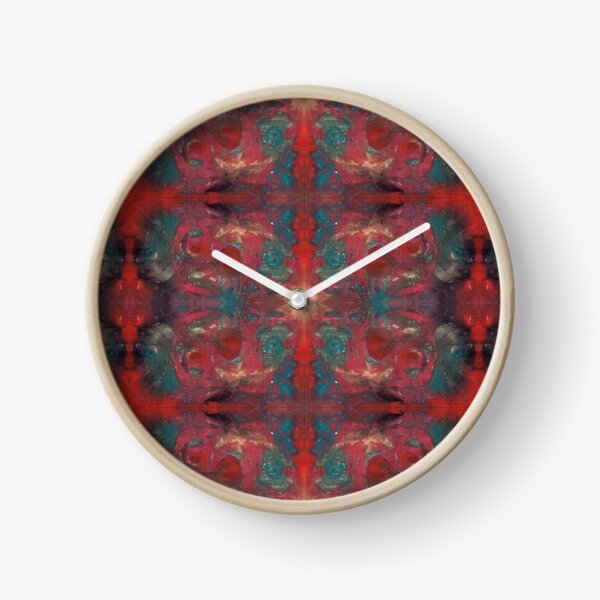 """pat_tho"" - SDTho_Art: oil pastel, abstract, digital pattern Clock"