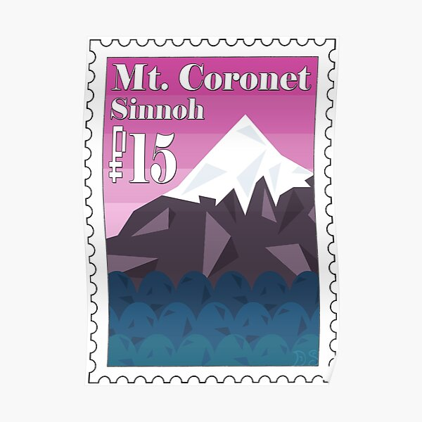 Mt. Coronet Stamp Poster