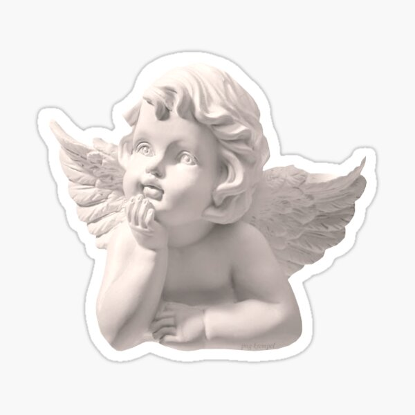 Cherub statue Sticker