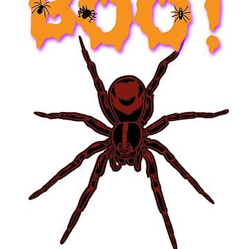 Boo! Bloody Spider Halloween Holiday T shirt by we1000