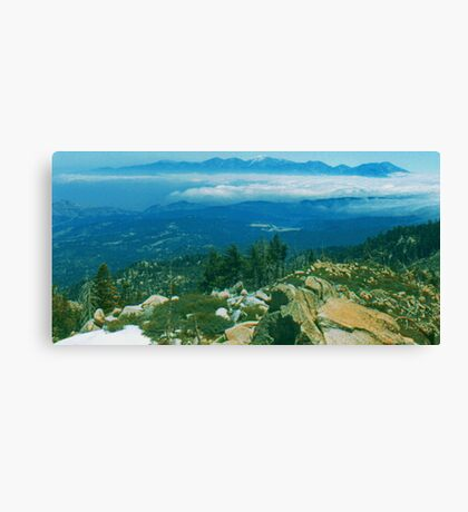 Mountain Top photo painting Canvas Print