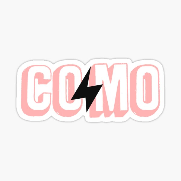 COMO Lightning - Light Pink Sticker