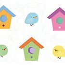 Little birds going home by julianamotzko
