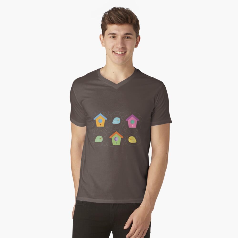 Little birds going home V-Neck T-Shirt