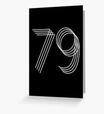 40. Geburtstag Nr. 79 Grußkarte