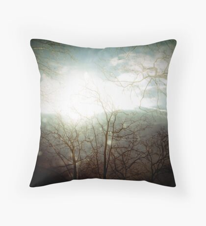 mountains and trees Throw Pillow