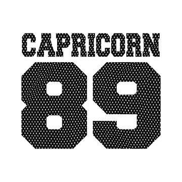 Capricorn 89 1989 Zodiac Sign birthday gift by RosinaSays