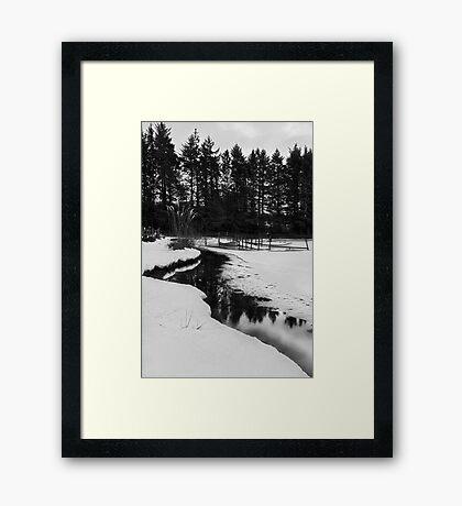 Morton Fishery - Kirknewton B&W Framed Print