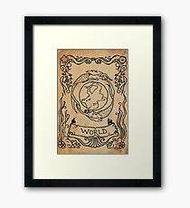 Mermaid Tarot: The World Framed Print