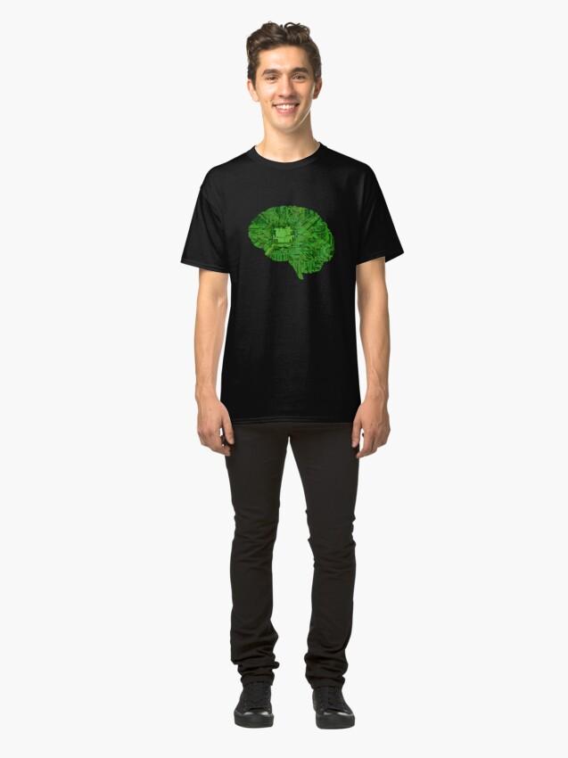 Alternate view of Brain In A Jar Classic T-Shirt