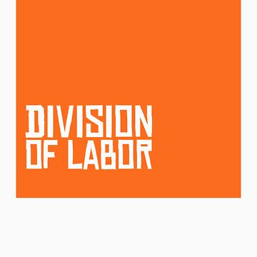 Division of Labor Logo (Orange Version) by divisionoflabor