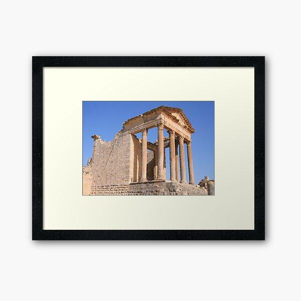 The Capitol at Dougga Framed Art Print