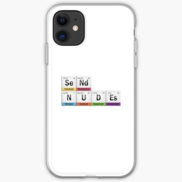 Send nudity with chemistry iPhone Soft Case