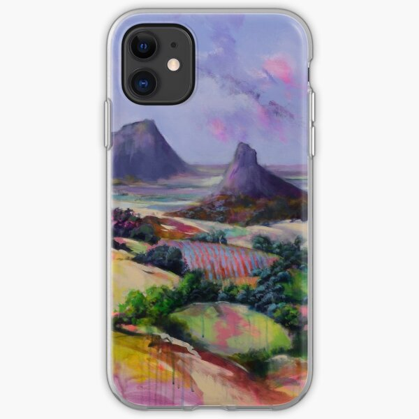 Glasshouse Mountains Dreaming iPhone Soft Case