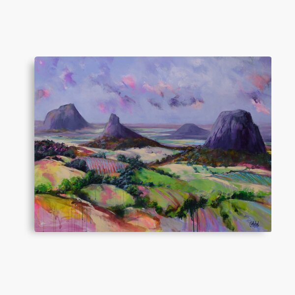 Glasshouse Mountains Dreaming Canvas Print