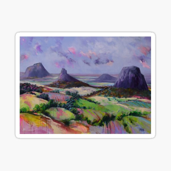 Glasshouse Mountains Dreaming Sticker