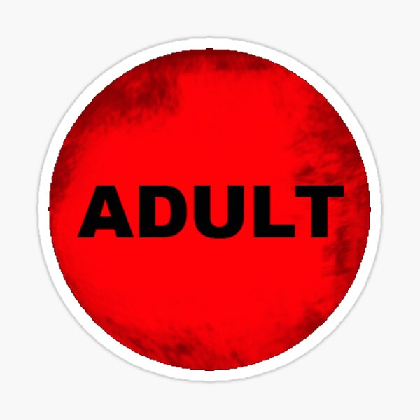 ADULT video store rental sticker Sticker
