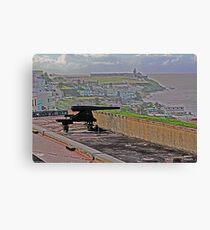 Cannon at San Cristobal Fort Canvas Print