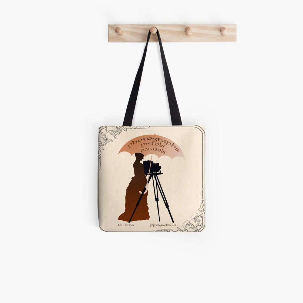 Photographs, Pistols & Parasols Tote Bag
