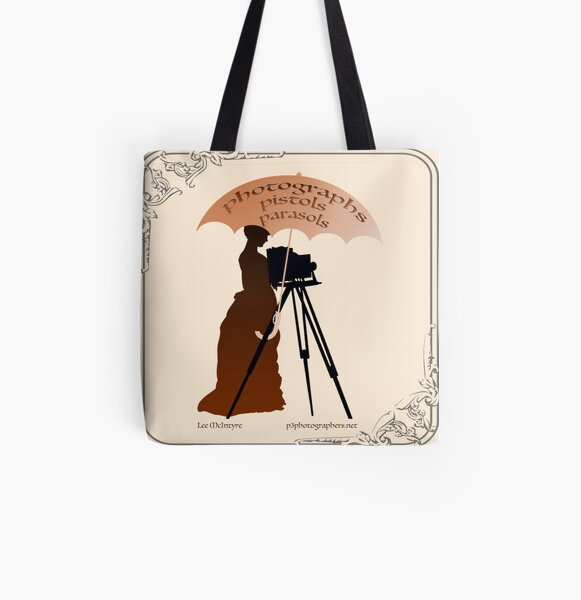 Photographs, Pistols & Parasols All Over Print Tote Bag
