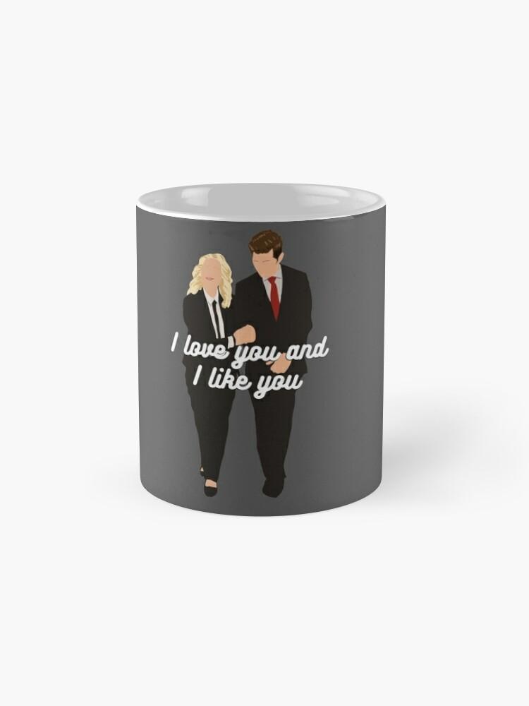 Alternative Ansicht von Ich liebe dich und ich mag dich Tassen