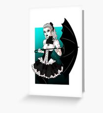 Gothic Lolita Greeting Card