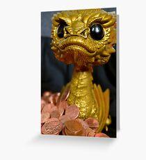 Golden Smaug Funko Pop  Greeting Card