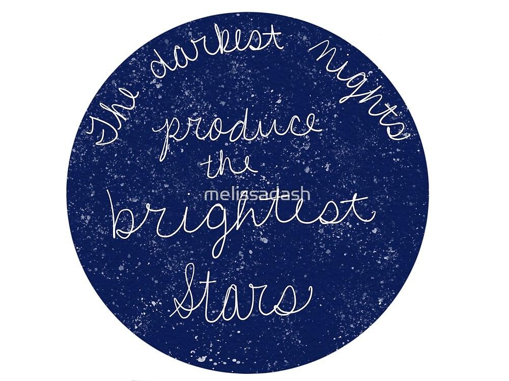 Les Nuits Les Plus Sombres Produisent Les étoiles Les Plus