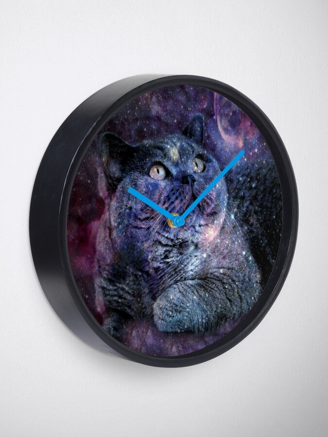 Alternate view of Kittylicious Space Cat  Clock