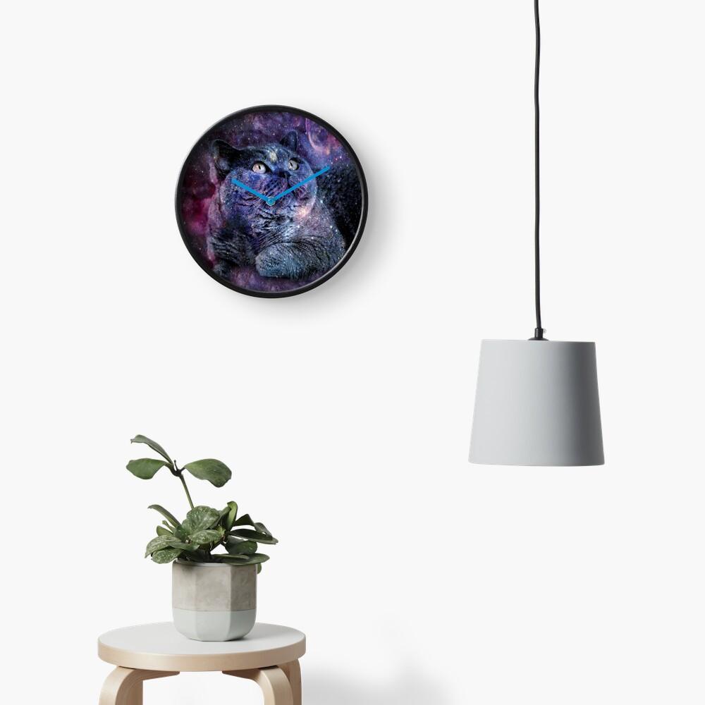 Kittylicious Space Cat  Clock