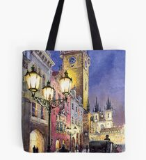 Prague Old Town Square 3 Tote Bag