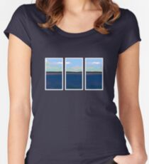 Ocean View - Triptych Women's Fitted Scoop T-Shirt