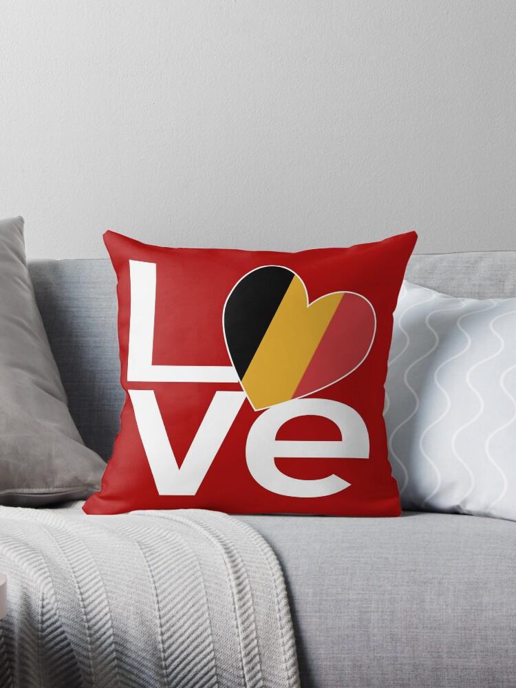 Belgian LOVE White Red by AuntieShoe