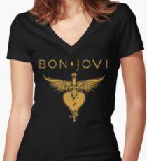 Camiseta entallada de cuello en V BON JOVI LOGO 2019 CANCAN