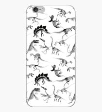Dinosaur Skeleton Diagrams iPhone Case