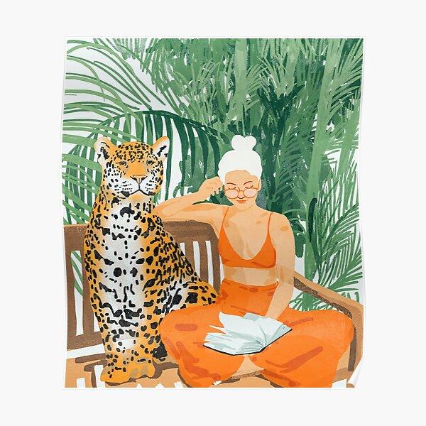 Jungle Vacay II #painting #illustration Poster