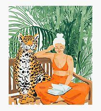 Jungle Vacay II #painting #illustration Photographic Print