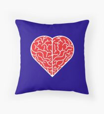Lovely heart shaped brain Throw Pillow