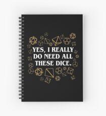 Cuaderno de espiral Sí, realmente necesito todos estos dados