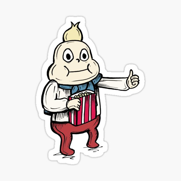 Onion from Steven Universe™ Eating Popcorn with a Thumb Up! Sticker