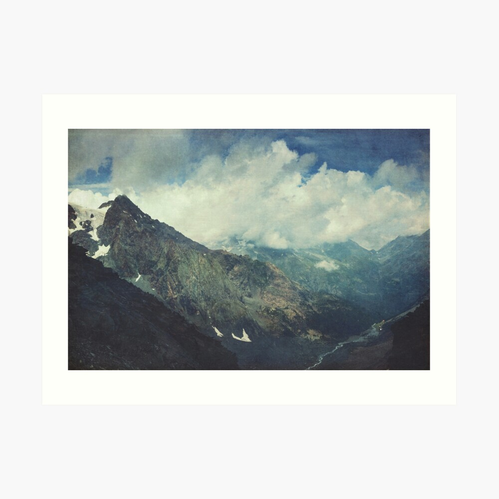 Valley and Mountains - Lombardia Italy Art Print