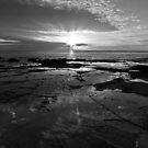Breaking Dawn - Lorne, Victoria B&W by Anthony Evans
