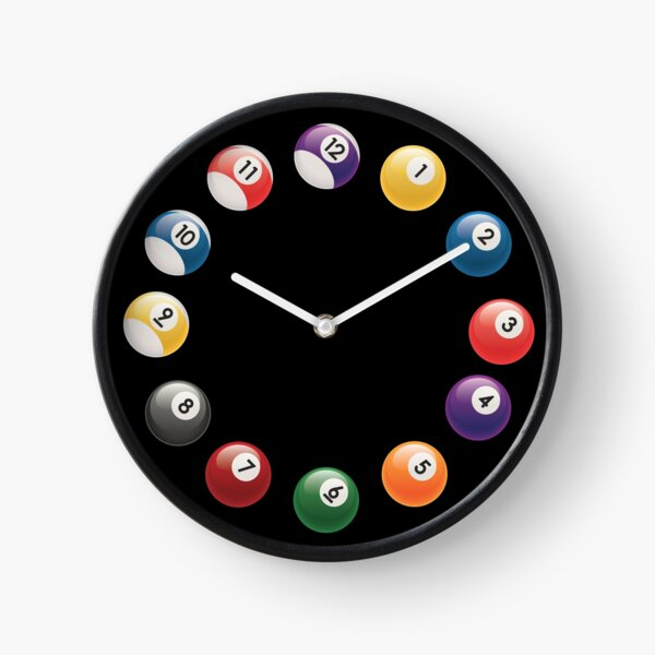 Snooker Pool Billiards  Clock